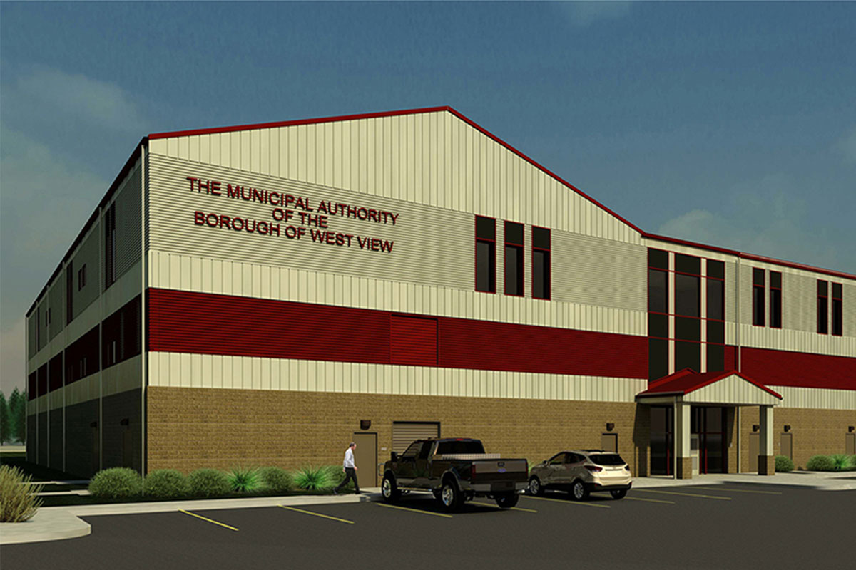 Rendering of Main Treatment Plant