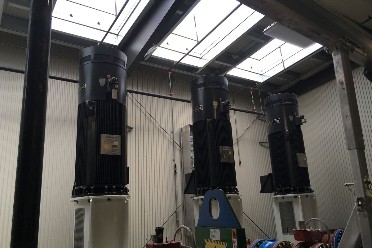 Construction Phase – High Speed Service Pumps