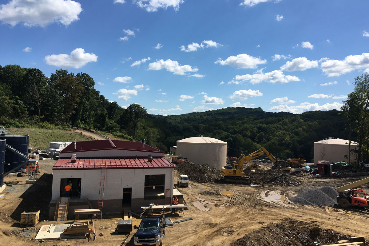 Construction Phase – Sludge Building and Clearwell